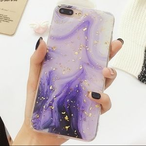 NEW iPhone X/XS Purple and Gold Foil Case